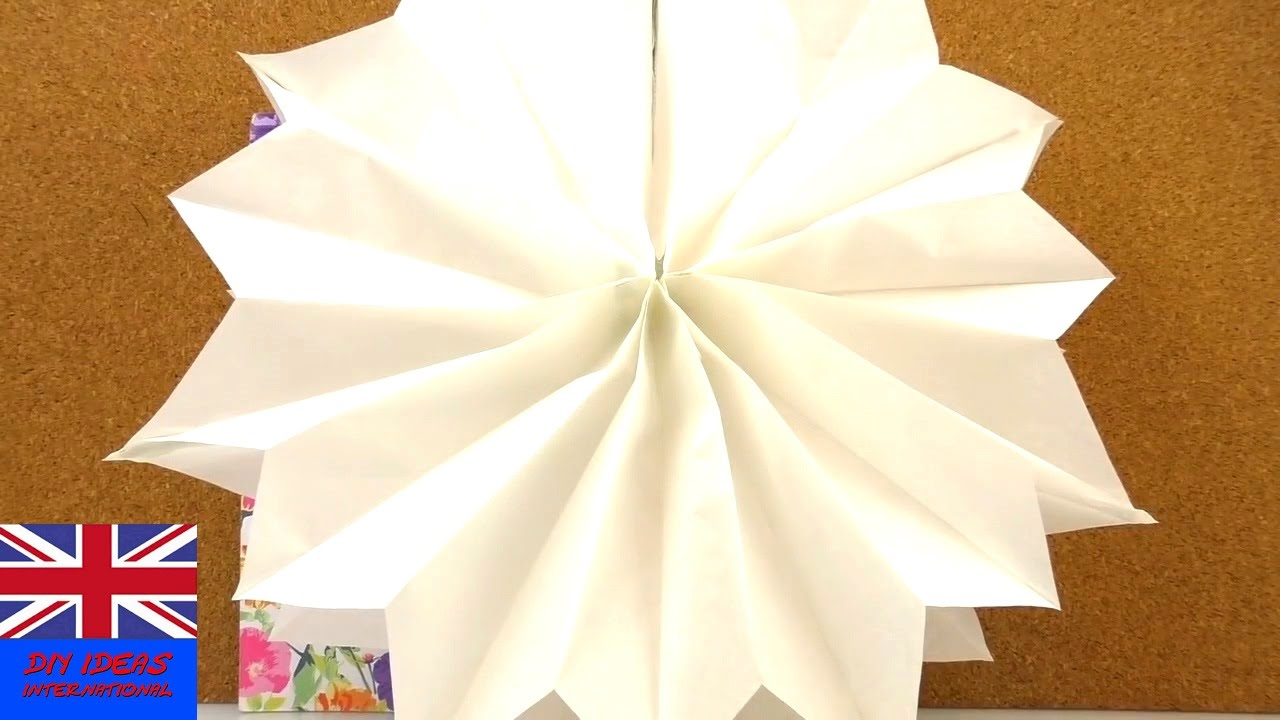 Paper star christmas decoration. TutorialDIY How to make a paper