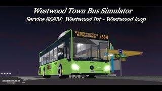 Go-ahead Roblox| service 868M | Westwood Int - Westwood loop|