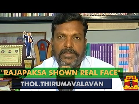 """""""Rajapaksa Shown His Real Face In Interview"""" - Thol.Thirumavalavan's Opinion About His Interview"""