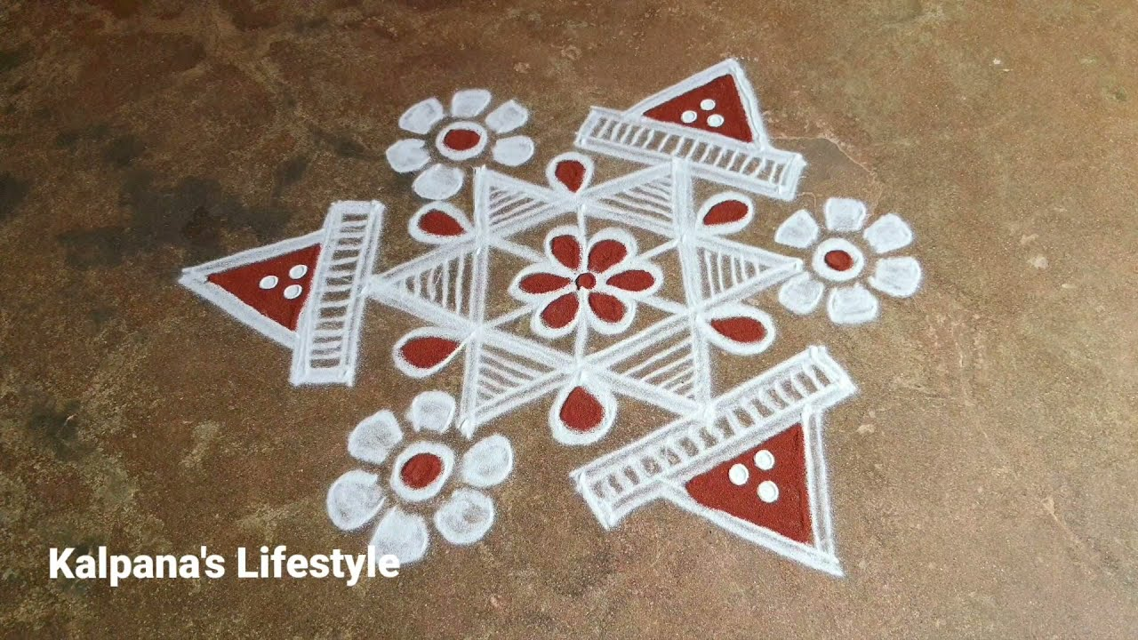 Navratri special Easy Rangoli Diwali special kollam Festival Pandaga Muggulu//07//2021