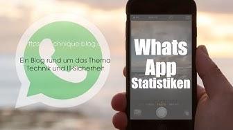 WhatsApp - Statistiken anzeigen und zurücksetzen
