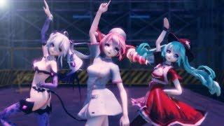 MMD TDA Haku , Miku & Teto - ライアーダンス[Liar Dance]