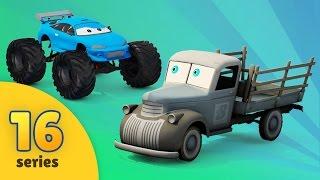 Pickup Trucks VS Monster Trucks   New Monster Truck Adventures   Vehicles for Kids   EPISODE 16