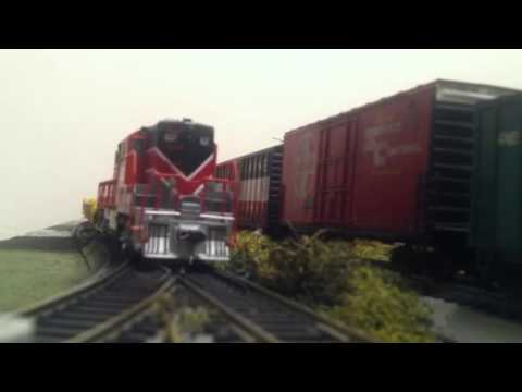 Bangor & Aroostook GP7 #62 switching at Searsport yard