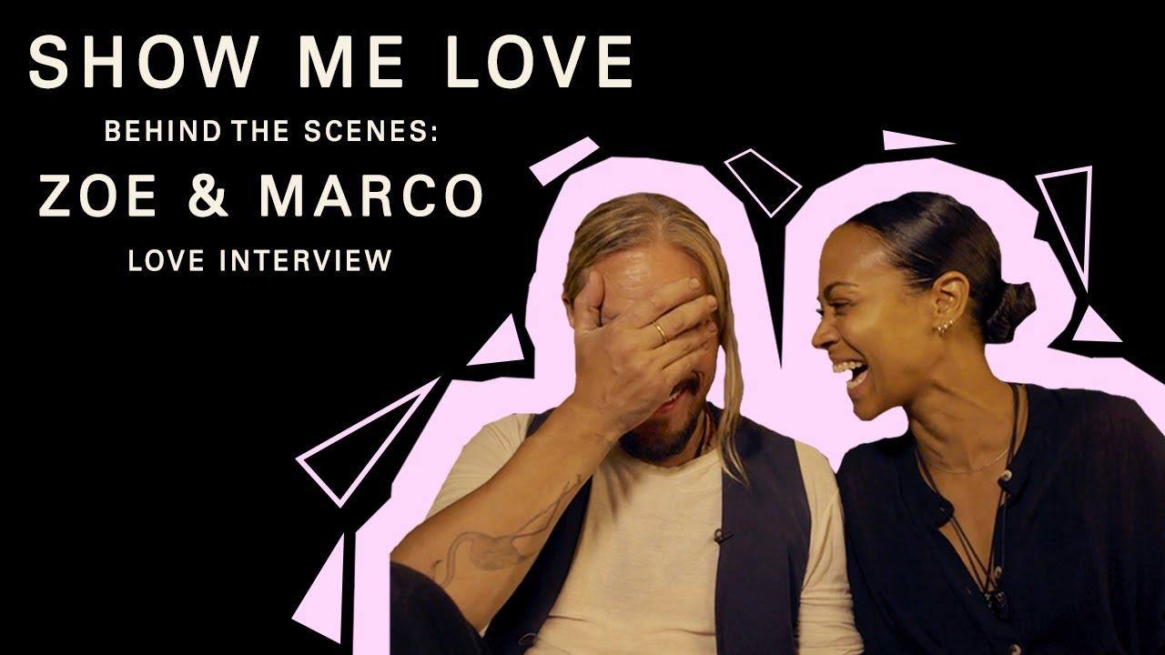 Zoe Saldana & Marco Perego Saldana (Show Me Love - Love Interviews - Part 3)