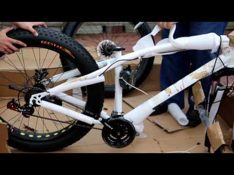 Велосипед , фэтбайк из Китая , распаковка .