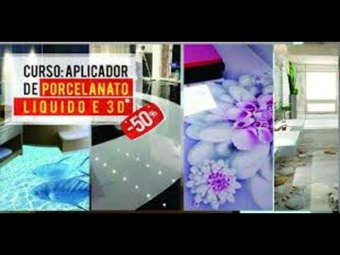CURSO MESTRE DO PORCELANATO LIQUIDO 3D - CURSO PORCELANATO LIQUIDO E PISO 3D