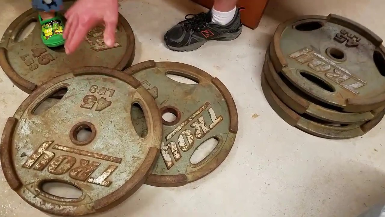 How to clean restore rusty weights youtube