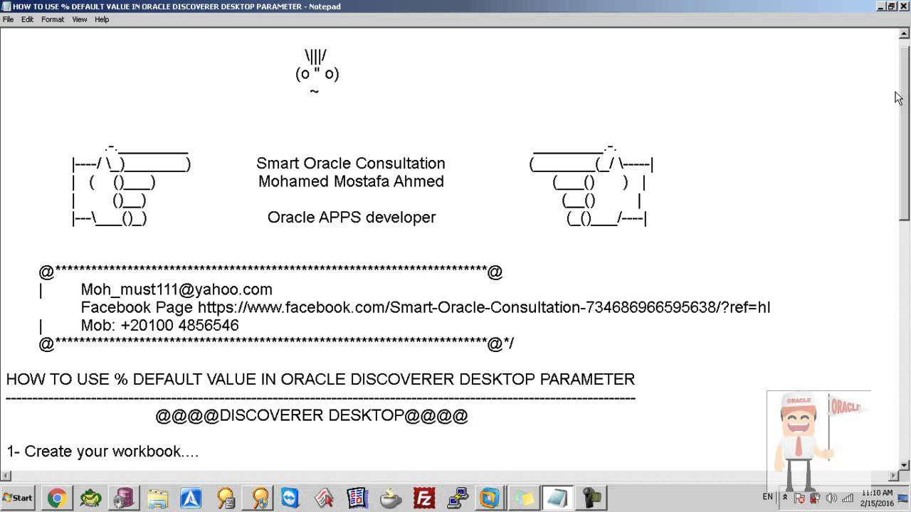 how to use default value in oracle discoverer desktop parameter rh youtube com Oracle Discoverer User Guide Oracle Discoverer Viewer