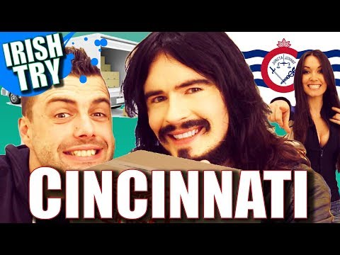 Irish People Taste Test Cincinnati 'OHIO' - Snacks & Treats!!