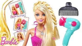 Barbie Glitter Blow Dryer BARBIE Doll Hair-Tastic Styling Playset - NEW Barbie Toys