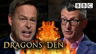 Fast reality check for 'delusional' tech entrepreneur! | Dragons' Den - BBC