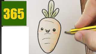 HOW TO DRAW A CARROT CUTE, Easy step by step drawing lessons for kids