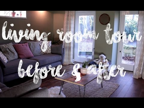 ROOM TOUR BEFORE & AFTER | THE LIVING ROOM | ONCE IN A LULLABY