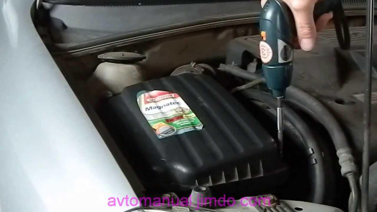 видео снятие резонатор воздушного фильтра!/ chevrolet aveo
