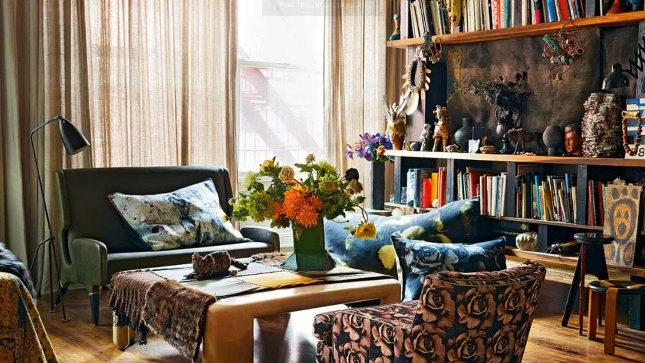 Interior design boho style vintage youtube for Interior design