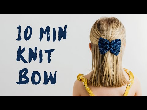 Knitting Machine Pattern - Knit Bow