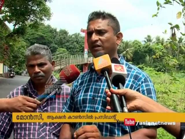 Encroachments on Meenachil river bank, Natives startprotest against encorchment