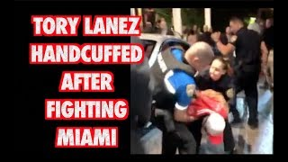 TORY LANEZ ARRESTED MIAMI LIV 2018 Tory Lanez getting handcuffed in...
