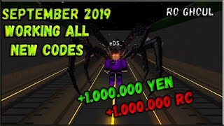 [WORKING] ALL NEW CODES !! +1.000.000 YEN & RC !! / Roblox Ro Ghoul / 2019 September