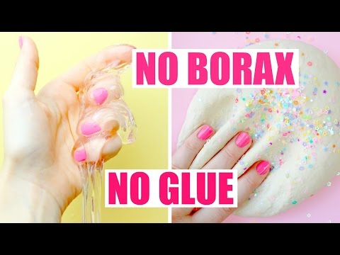 MY FAVORITE NO GLUE, NO BORAX SLIME DIY RECIPES💕🌈