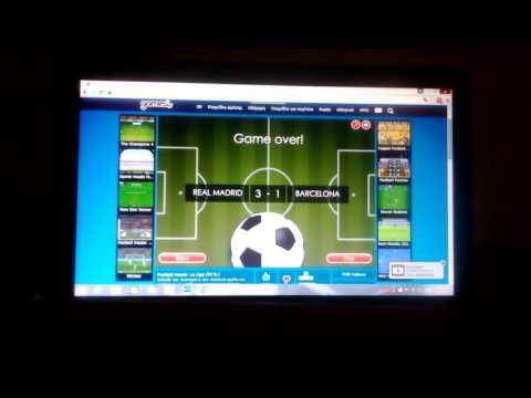 Football in computer ,real madrid win barcelona