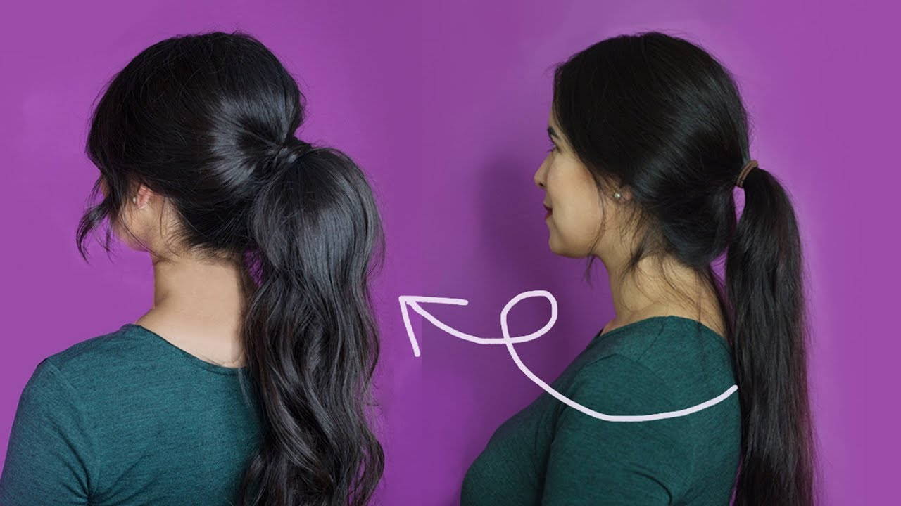 How To Make Thin Hair Look Thicker And Fuller With A Ponytail