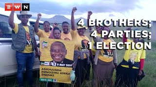 Politics can split families. But four Eastern Cape brothers demonstrate that this doesn't have to be the case. They all belong to different political formations and are contesting the same ward in their home town of Matatiele during the 2021 local government elections.