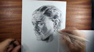 DIBUJO JAX TELLER // Speed Drawing // Sons Of Anarchy //SOA