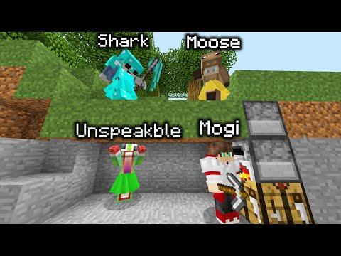 Minecraft Manhunt 2 Hunters Vs 2 Speedrunners w/ Unspeakable Shark and Moose