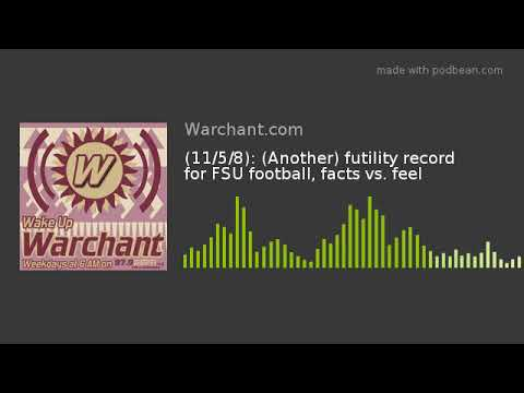 (11/5/8): (Another) futility record for FSU football, facts vs. feel