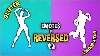 Fortnite Unreleased Leaked Emotes but In *REVERSED*(Glitter,Billy Bounce,Hit the Woah & more..) pt.1
