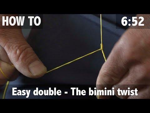 Fishing Knot: Easy Double  - The Bimini Twist