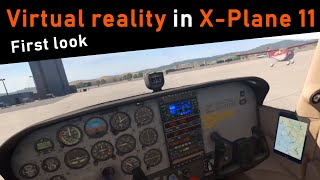 X Plane 11 Virtual Reality | First look with the Oculus Rift | It