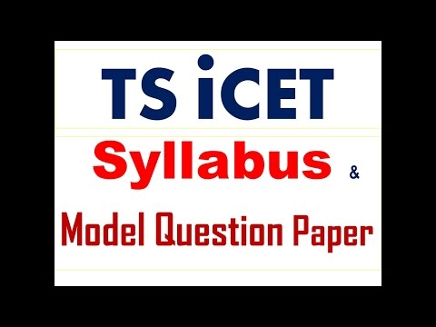 TS ICET Syllabus / MODEL Question Paper