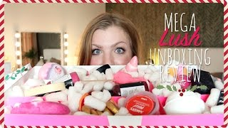 MEGA unboxing + review Lush winter/Kerst | douche, bad & meer!