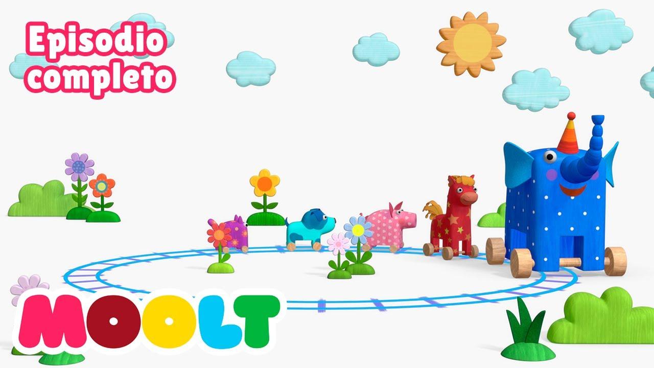 Maderitas - La locomotora 🚂 EPISODIO COMPLETO | caricaturas para bebés en MOOLT