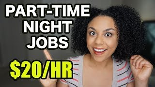 Work From Home Night Jobs, Part Time!