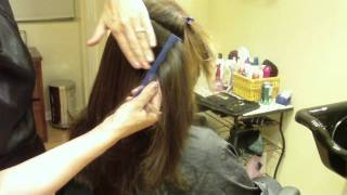 Long Layer Modern Shag Haircut: Hair Tutorial: Thin and Texturize to Decrease Bulk