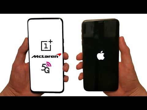 OnePlus 7T Pro 5G McLaren Vs IPhone 11 Pro Max Speed Test, Speakers, Battery & Cameras!