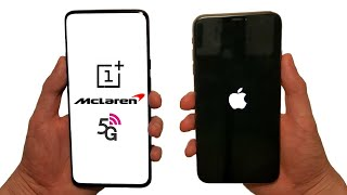 OnePlus 7T Pro 5G McLaren vs iPhone 11 Pro Max Speed Test, Speakers, Battery & Cameras!