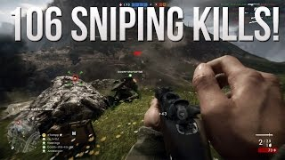106 Sniping Kills! (Operations Monte Grappa) - Battlefield 1 Road to Max Rank Ep. 46!