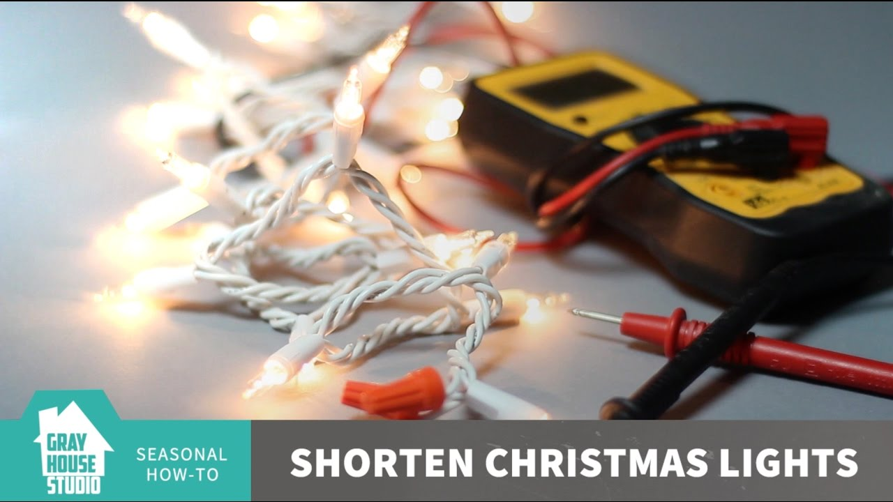 shorten christmas lights how to
