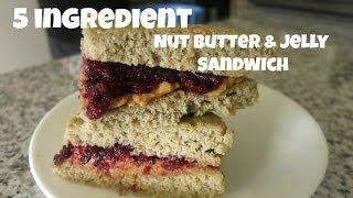 5 Ingredient #grainfree Almond Butter & Jelly Sandwich. Gluten-free.