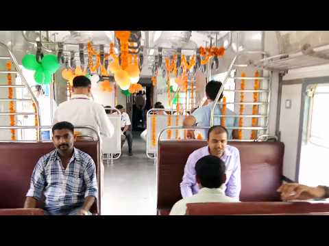 Traveling in First DEMU Solar Powered Train from Delhi Safdarjung station to Nizamuddin