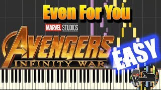 🎵 EASY Even For You - Avengers : Infinity War  [Piano Tutorial] (Synthesia) HD Cover