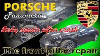 Porsche Panamera. Body repair. Ремонт кузова.