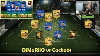 fifa 15   ronaldo vs messi   toty   cacho vs djmariio   ultimate team