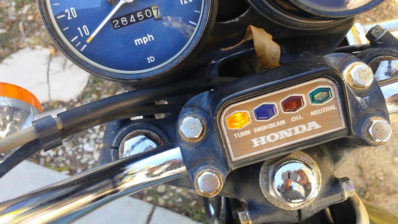 replacing a faulty turn signal indicator relay on an older model vintage motorcycle [ 1280 x 720 Pixel ]