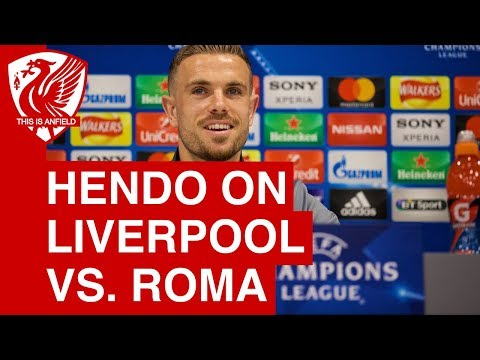 Jordan Henderson Pre-Match Press Conference | Liverpool vs. Roma (Champions League)